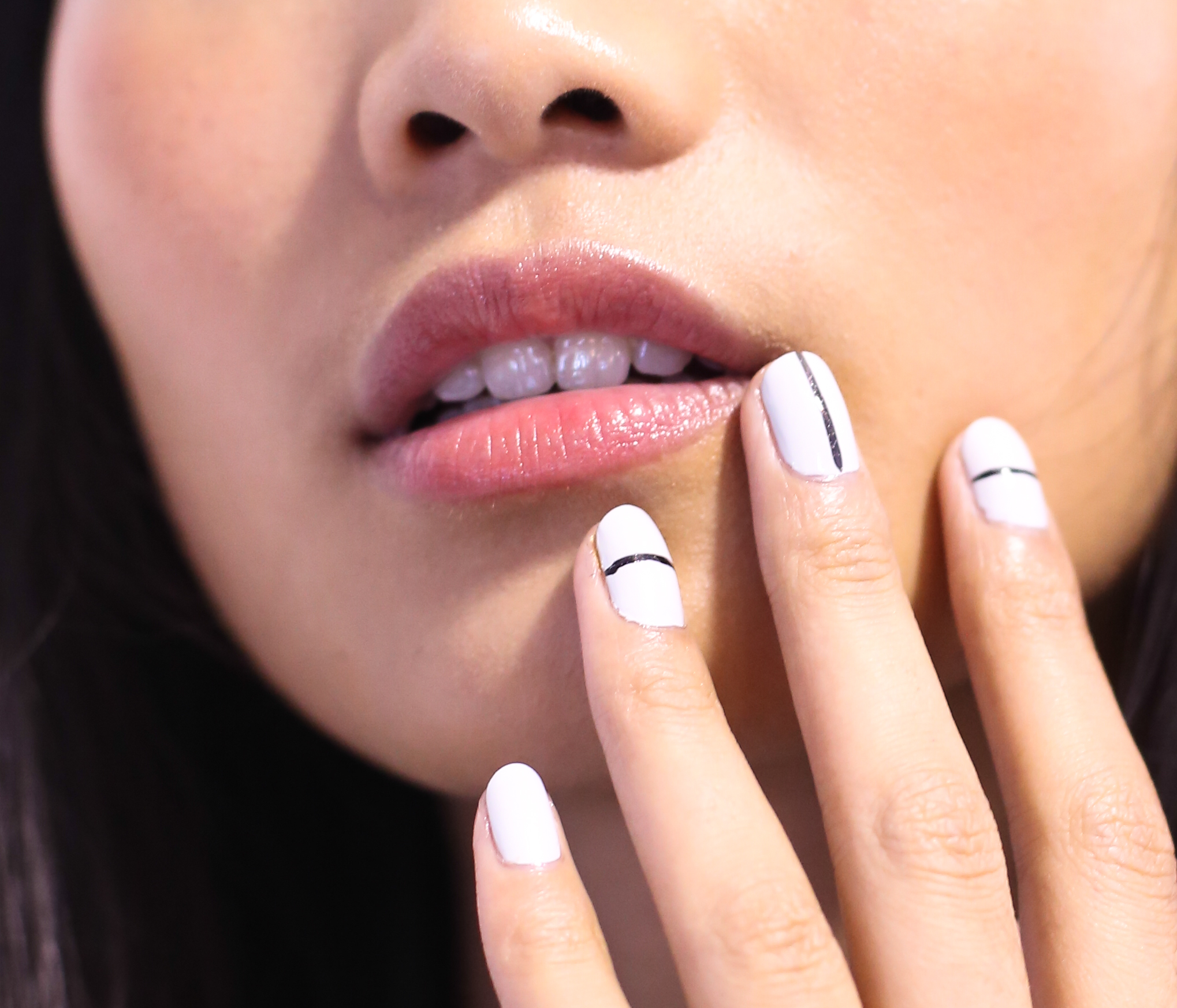 NEW YORK, NY - SEPTEMBER 07:  A model poses wearing JINsoon Nail Lacquer during JINsoon For Tibi Spring/Summer 2014 at Pier 59 on September 7, 2013 in New York City.  (Photo by Anna Webber/Getty Images for JINsoon)